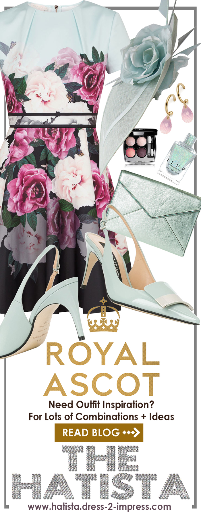Royal Ascot outfit ideas. What to wear for Royal Ascot. Royal Ascot Style Guide. Royal Ascot outfit inspiration. Floral Royal Ascot dresses. Hats for Royal Ascot. #royalascot #ootd #outfitideas