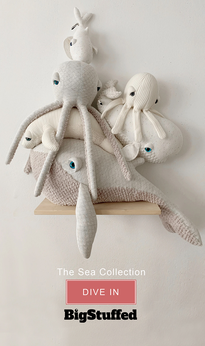 Big Stuffed Sea Collection. Handmade Big Stuffed Toys 2020. Shop Big Stuffed Octopus. Big Stuffed Whale. Best Stuffed Toys. Big Stuffed Toys for Grown Ups.