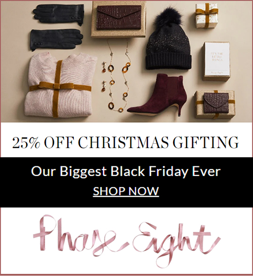 Phase Eight Black Friday Sale 2020. Buy Phase Eight Gift online 2020. Best Black Friday Sales 2020. Black Friday Gifts for Her 2020.