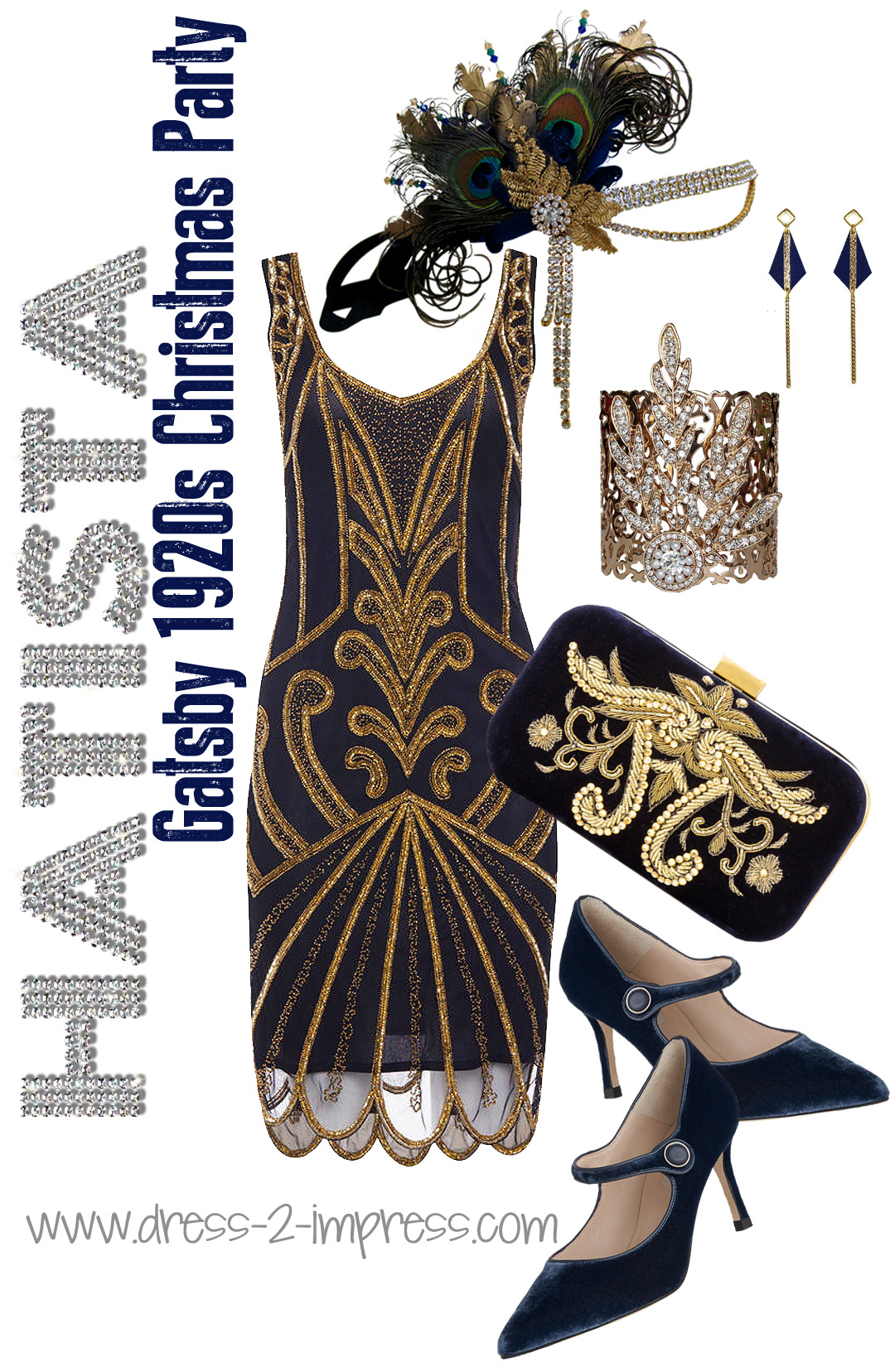 Great Gatsby Party Ideas, What to wear to a 1920s Theme Party. Christmas or Birthday Party - Outfit Inspiration for 1920s Fashion from THE HATISTA www.dress-2-impress.com Art Deco Fashion, 1920s Dress, Gatsby Fancy Dress,  #1920s #gatsbyheadpiece #headband #outfits #ootd #fashion #fashionista #newyearseve #christmasparty
