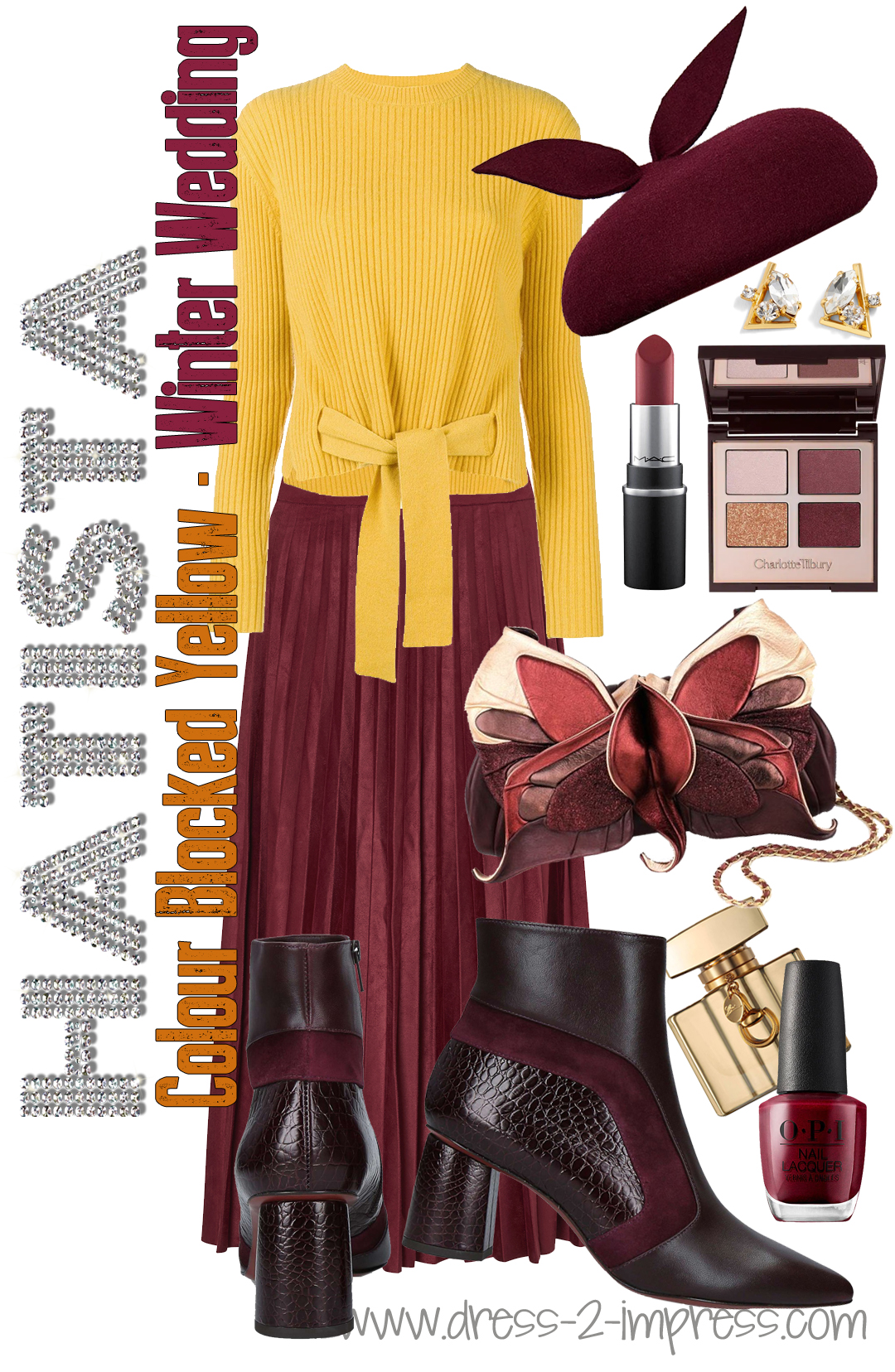 How to dress for a Winter Wedding. Burgundy and Mustard Yellow Outfits. What to wear to a Winter Wedding. Winter Wedding Guests outfits. How to dress for a winter wedding. How to wear Yellow. What to wear with Burgundy. What colours go with Burgundy.