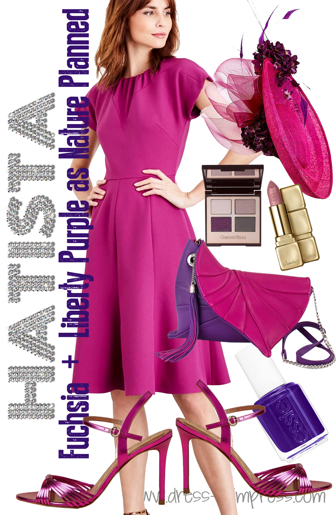 Fuschia and Purple outfit ideas 2020. What to wear to the Races 2020. What to wear for Royal Ascot 2021. Autumn Wedding Guest Outfits 2020. What to wear to an Autumn Wedding 2020. Ladies Day outfit ideas 2020. What to wear to the Horse Races 2020.