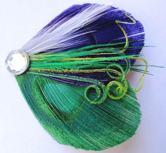 Green and Purple Peacock Fascinator. Mardi Gras Wedding ideas. Mardi Gras bridesmaids outfits. Green Peacock Accessories. Mardi Gras Bridesmaids. Peacock Hair Clips. Planning a Mardi Gras Wedding