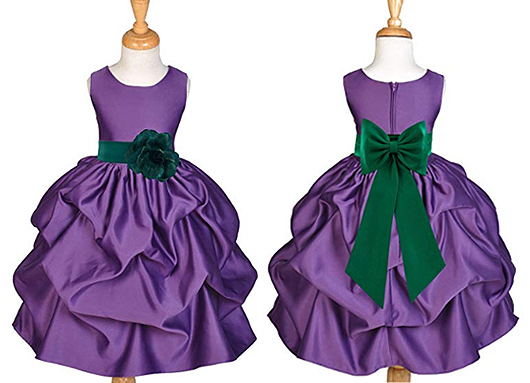 Mardi Gras Themed Wedding ideas. Mardi Gras Flower Girls Outfits. Mardi Gras Dresses. Flower Girls for Mardi Gras wedding. Purple Flower Girl Dress. Planning a Mardi Gras Wedding
