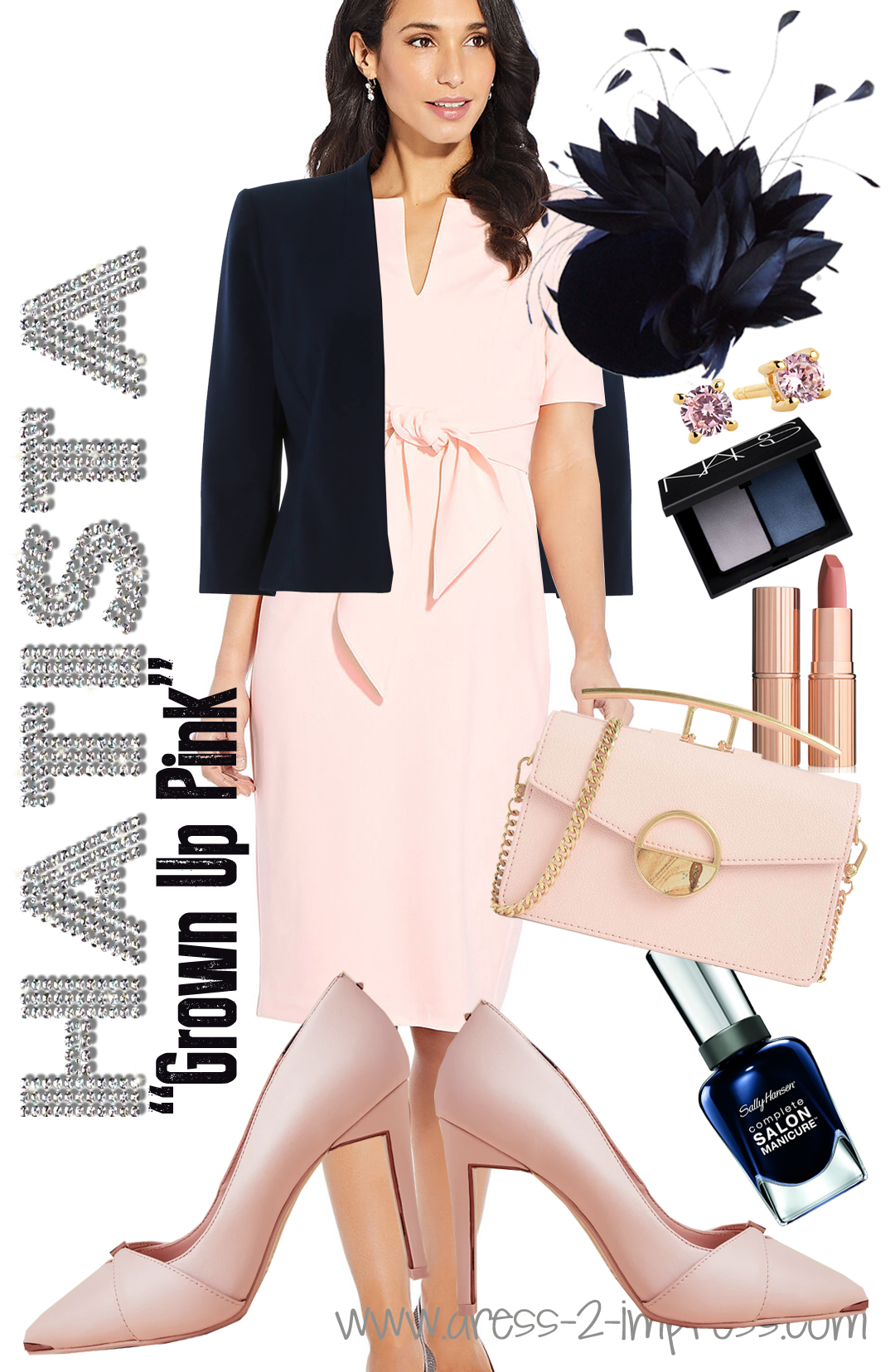 How to Wear Pink for Racing Fashions. Pink Outfits for the Races. What to wear to the Races. What to wear for the Kentucky Derby. from THE HATISTA www.dress-2-impress.com #racingfashion #wearyellow #outfitinspiration #outfitideas #pinkoutfits #motherofthebride