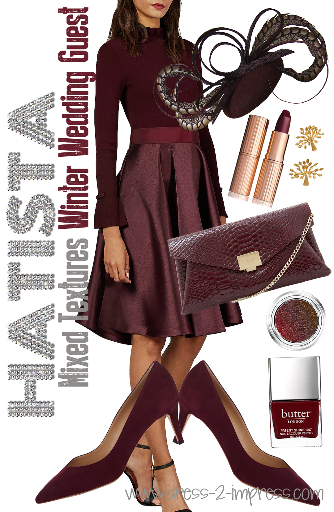 How to dress for a Winter Wedding. Burgundy Winter Outfits. What to wear to a Winter Wedding. Winter Wedding Guests outfits. How to dress for a winter wedding. How to wear Burgundy Red. What to wear with Burgundy. What colours go with Burgundy.