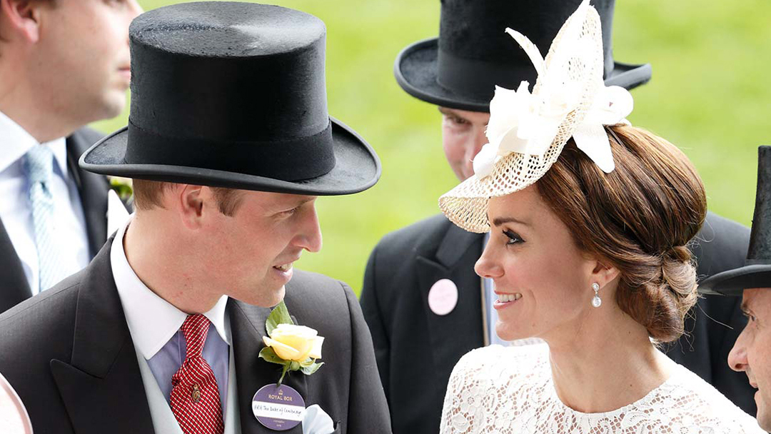 Prince William and Duchess of Cambridge at Royal Ascot. Royal Ascot Style Guide. Find Hats for Royal Ascot. What to wear for Royal Ascot. Top Hat Hire.